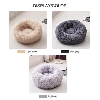 Large Pet Bed Luxury Shag Warm Fluffy Dog Bed Nest Cat Mattress Fur Donut Pad UK 11