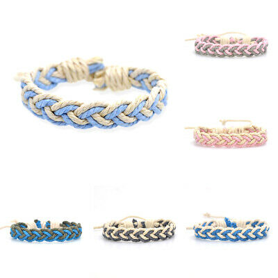 Fashion Girl's Hemp Rope Weave Bracelet Simple Accessories Jewelry Gift 2
