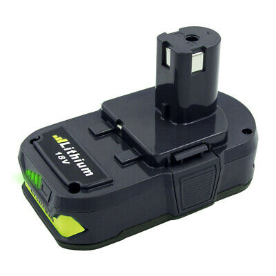 For Ryobi P107 One+ 18 Volt Compact Lithium 2500mAh Battery P106 P102 P105 P109 5
