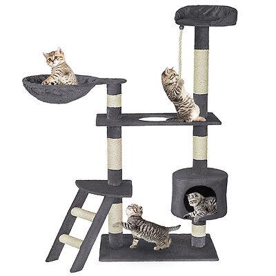 Arbre à chat griffoir 153cm de haut gris