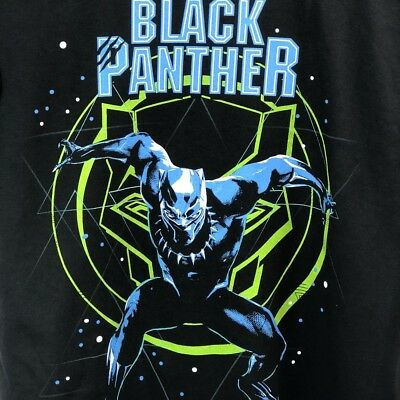 Shirt  Size Kids Boy/'s Marvel Comics Avengers Black Panther T L, S