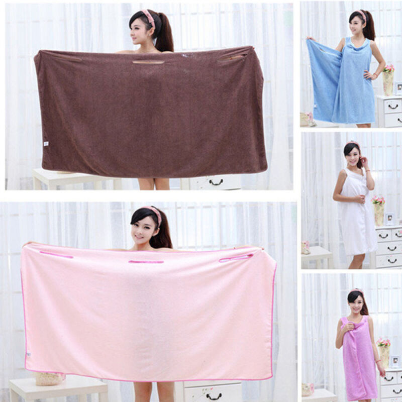 Microfiber Robes Wearable Towel Robe Spa Fast Dry Towel Bathrobes For Women Soft 7