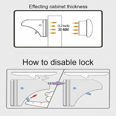 Invisible Magnetic Baby Child Locks Pet Proof Cupboard Drawer Safety Lock Catch 4