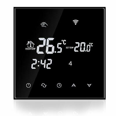 CronoTermostato WIFI regolabile Settimanale Temperatura Caldaia gas Touch Screen 5