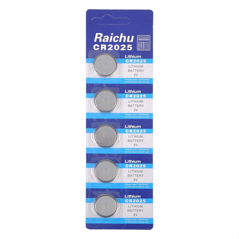 5pcs CR2025 3V Alkaline Button Battery Cell Coin Watch Calculator Batteries Pack 7
