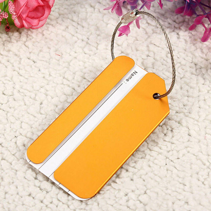 New Aluminium Metal Travel Luggage Baggage Suitcase Address Tags Label Holder CN 8