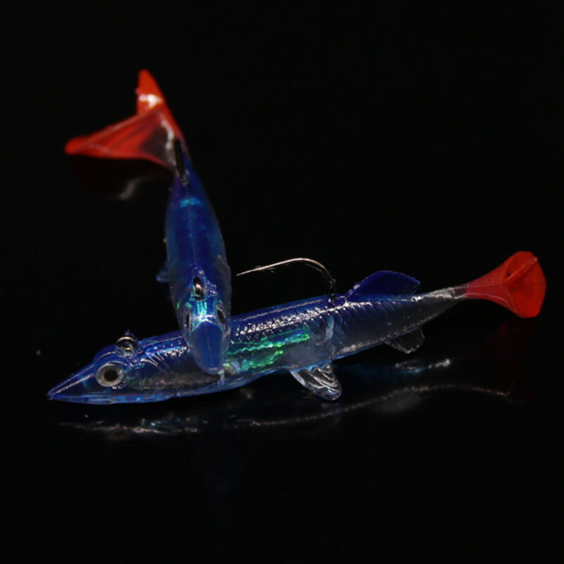 Minnow Night Plastic Fishing Lure Crank Bait Hooks Bass Crankbait Tackle New 2
