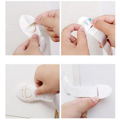 10 PCS Drawer CabInet Safety Locks Children Infant Cupboard Lock Doors Stopper 4