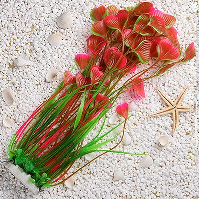Artificial Water Plants for Fish Tank Aquarium Landscape Plastic Decor Ornament 12
