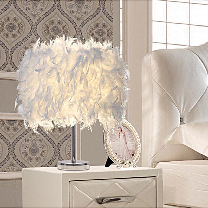 Jour Avec Chevet En De Table Abat Plumes Décorative Lampe Blanc A3jq54RL