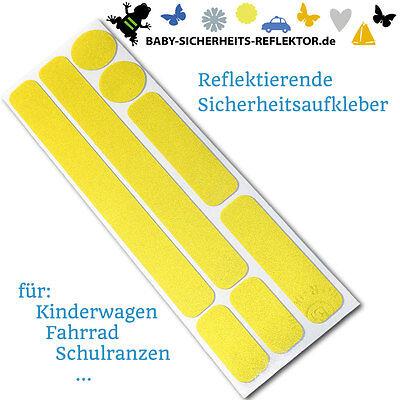 Reflektoren Aufkleber für Kinderwagen, Fahrrad, Helm, Gehhilfe (3M Scotchlite)
