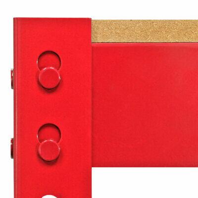 Etabli d'Atelier //Table de Travail Rouge en Acier Sans Boulons 90cm x120cm x60cm