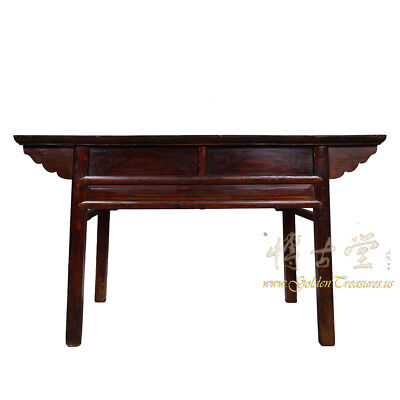 Chinese Antique Carved Zhejiang Writing Desk/Console Table 17LP12 9