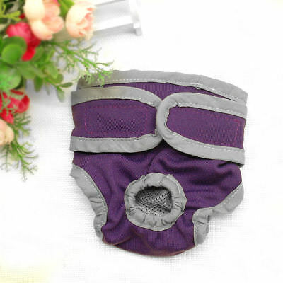 Dog Nappy Diaper Incontinence Season Pants Adjustable Black Purple Season Puppy 7