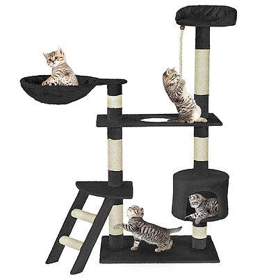Arbre à chat griffoir 153cm de haut noir 2