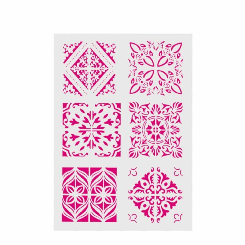 New Plastic Layering Stencils For DIY Scrapbooking Painting Template Paper Cards 3
