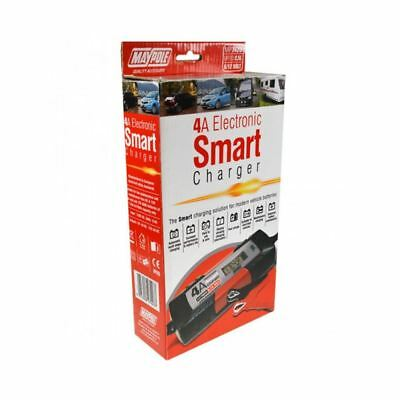 MAYPOLE 7423 Electronic Car Battery Charger Smart Fast Trickle Pulse Modes 4 AMP 3