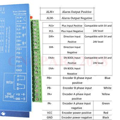 Nema23 Closed Loop 1.2NM Hybrid Stepper Motor Servo Driver 4.5A 2ph Power Supply 11