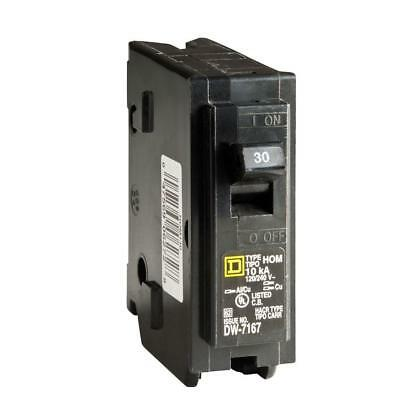 Square D Homeline 30 Amp Single-Pole Circuit Breaker Easy Install 120/240 VAC