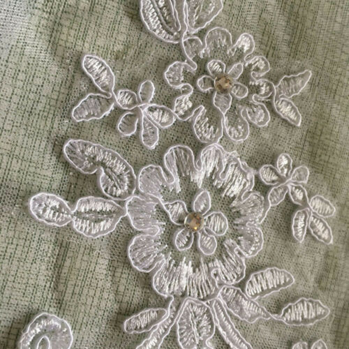 Lace short Wedding Veil 1T Ivory / white Tulle Elbow Bridal veil + Comb N2CX 5