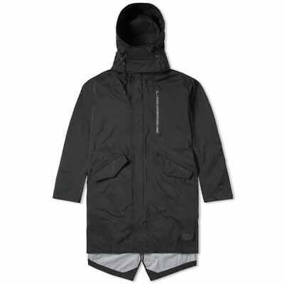 ADIDAS ORIGINALS MENS NMD Shell Jacket Waterproof Long Parka Hooded Coat Black