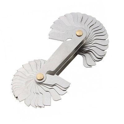 4P Screw Thread Pitch Cutting Gauge Tool Set Centre Gage 55°&60°Inch & Metric