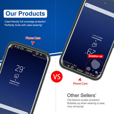 3x Galaxy S8 S8 Plus Flex Full Coverage Soft TPU Screen Protector For Samsung 6