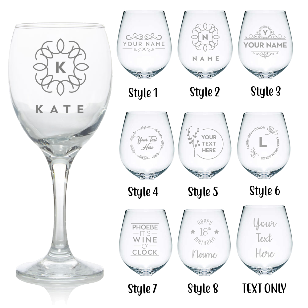 Personalised Glass Gifts Birthday Christmas Wedding Engrave Your Own Message 2