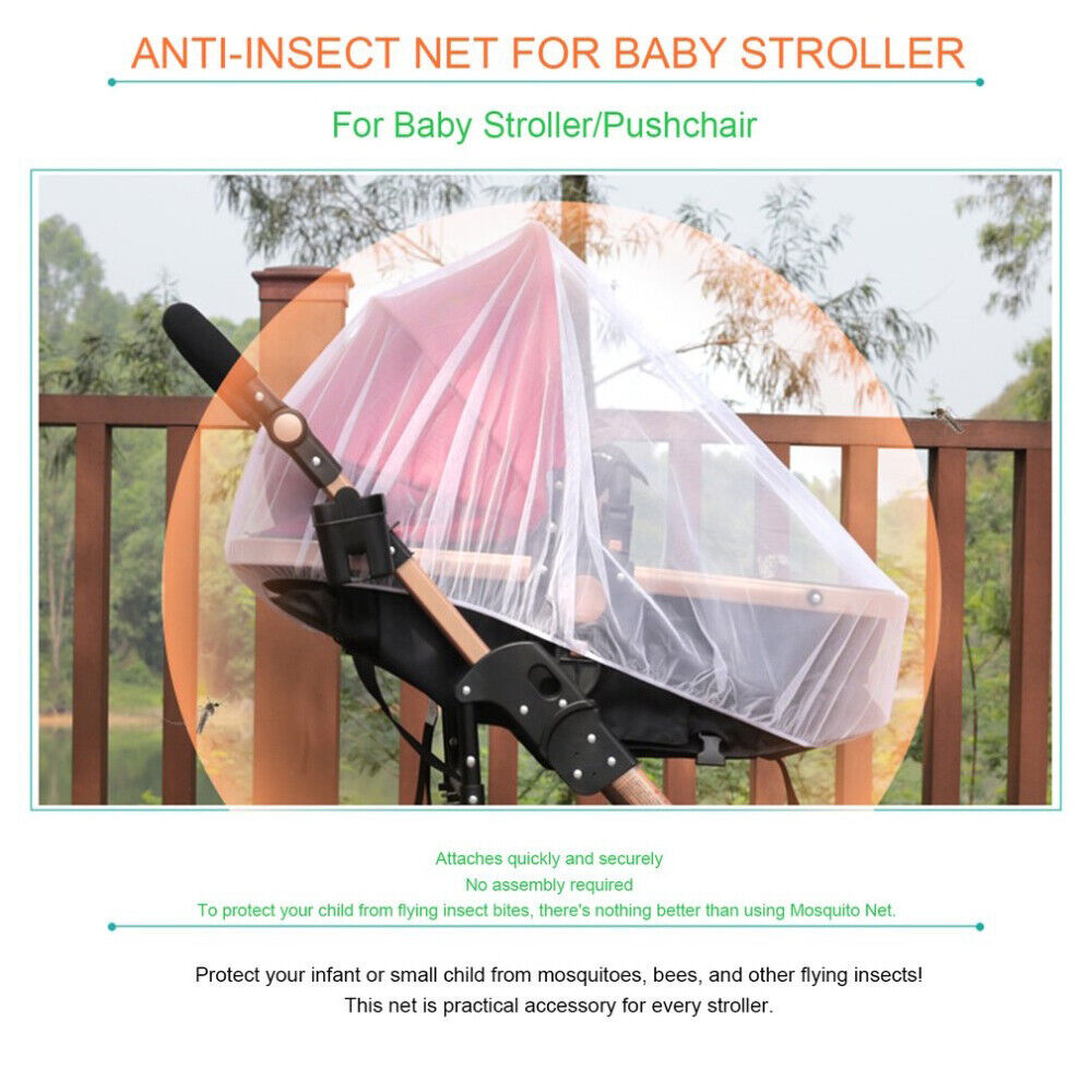 Anti Mosquito Fly Insect Net Mesh Buggy Cover For Stroller Pushchair Pram Hot 5