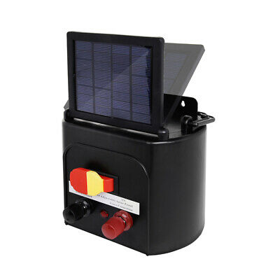 New 5km Solar Power Electric Fence Charger Kit Farm Fencing Tape Insulator Sign 3