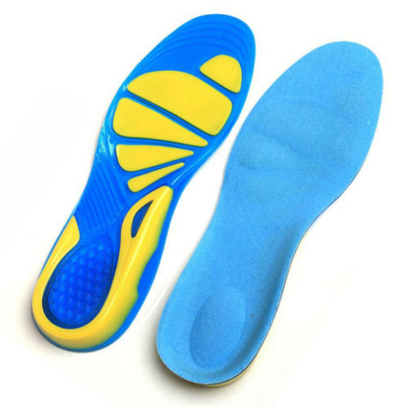 Silicon Gel Insoles Foot Care Pads for Plantar Fasciitis Heel Spur Sport New 8