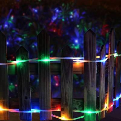 12M 100LED Waterproof Solar Power String Fairy Light Rope Tube Garden Lamp Xmas 3