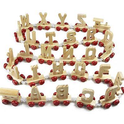 Wooden Alphabet Train Letters - Personalised Scrabble Letter Children Names Gift 4