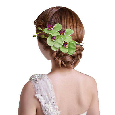 Ladies Womens Girls Orchid Flower Bright Summer Holiday Festival Hair Clip Uk 6