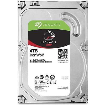 "Seagate 4TB IronWolf NAS HDD SATA 3.5"" Internal Hard Drive 5900RPM 64MB Cache 2"