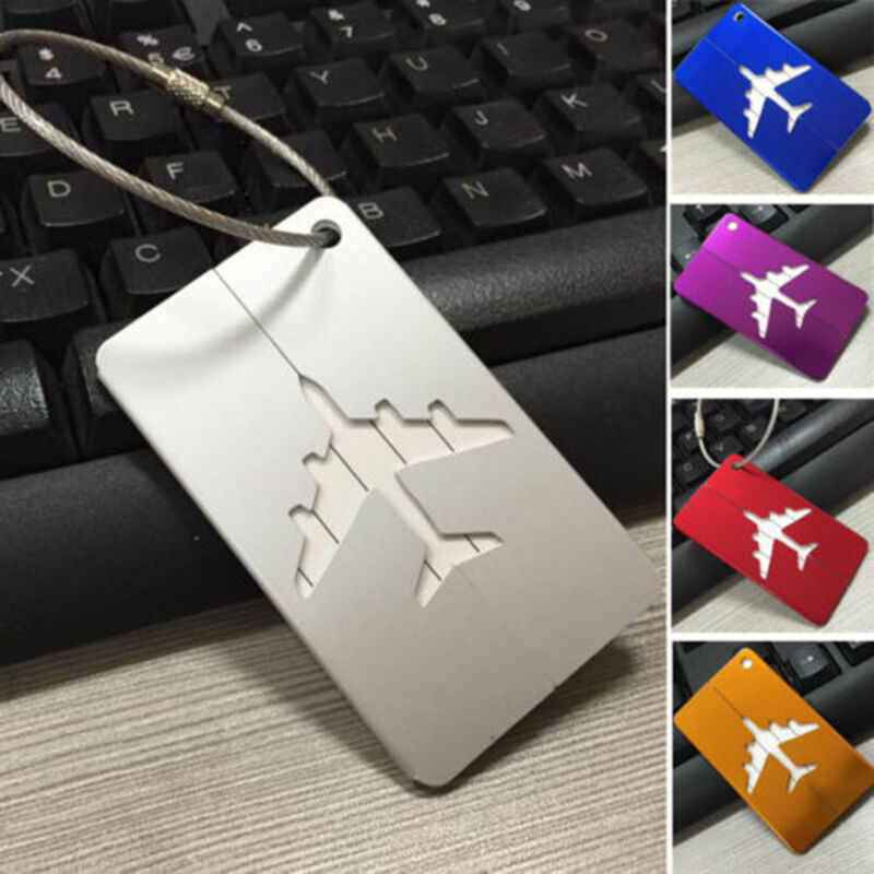 Travel Aluminium Plane Luggage Tags Suitcase Label Name Address ID Baggage Tag 5