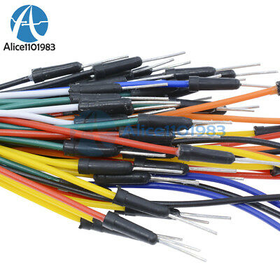 65Pcs Male to Male Solderless Flexible Breadboard Jumper Cable Wires For Arduino 2
