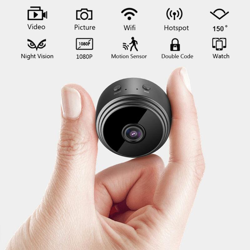 MINI Caméra IP Sans fil Wifi 1080P HD Espion Caméscope Caché Vision Nocturne 3