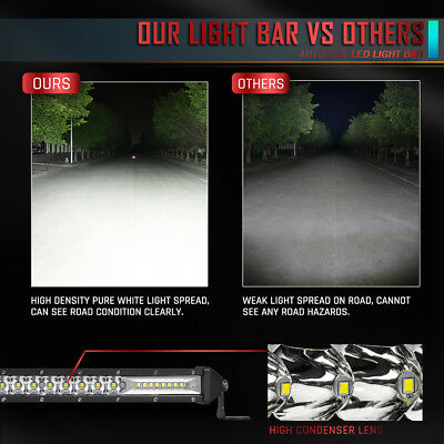 "Ultra-thin 312W 10inch Led Light Bar Flood Spot Combo Offroad SUV 12""22""32""42""52 7"