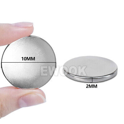 100x Super Strong Round Disc Magnets Rare-Earth Neodymium Magnet N35 10 x 2 mm 4