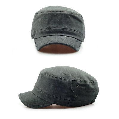 1136a1065 UNISEX MENS WOMENS Short Brim Casual Cadet Military Cap Trucker Hats Black