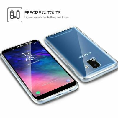 Samsung Galaxy S9 S10 Plus S8 360°Shockproof Full Soft Clear Silicone Case Cover 9