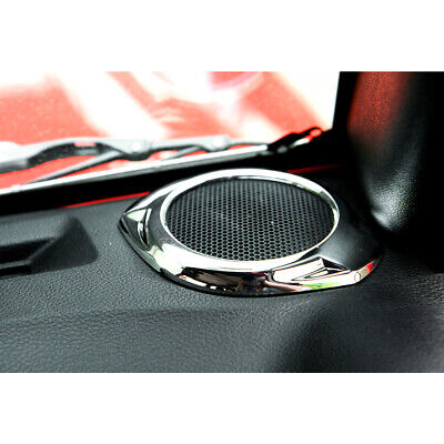 Fits 2008-2014 Jeep Wrangler JK Chrome Speakers A-pillar Horn Decor Trim Ring