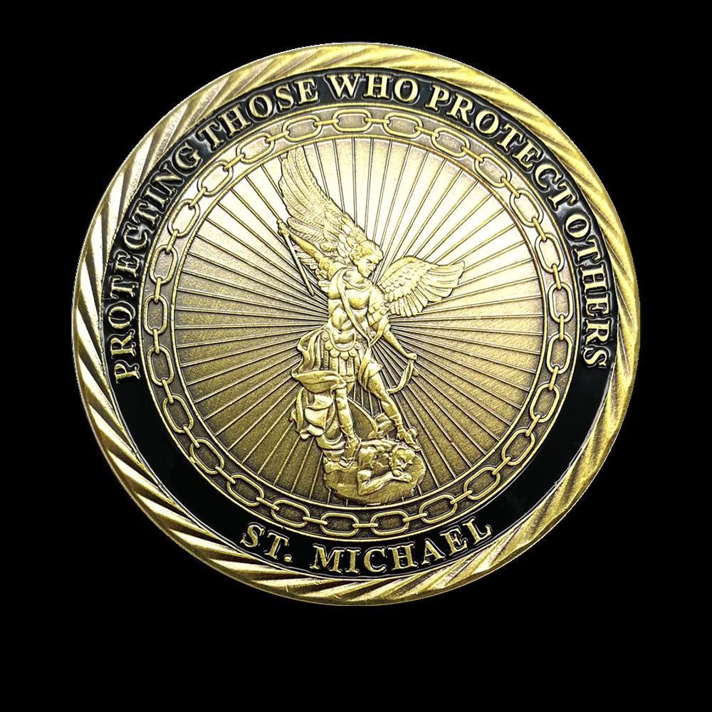 HOT SALE FBI Federal Special Agent US Law Enforcement St Michael Challenge  Coin