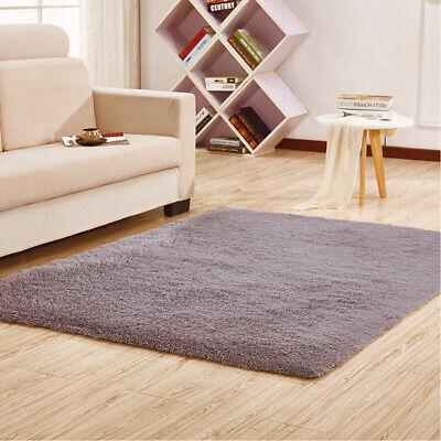 Fluffy Rugs Anti-Skid Shaggy Area Rug Dining Room Carpet Floor Mat Home Bedroom 5