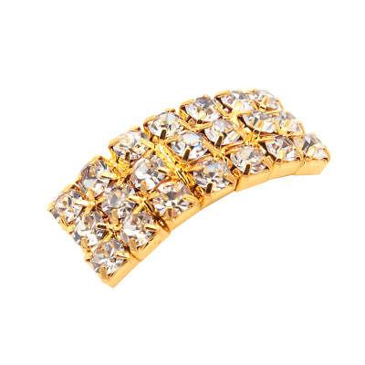 10 Circle, Heart, Or Square Diamante Rhinestone Crystal Buckle Ribbon Sliders 12