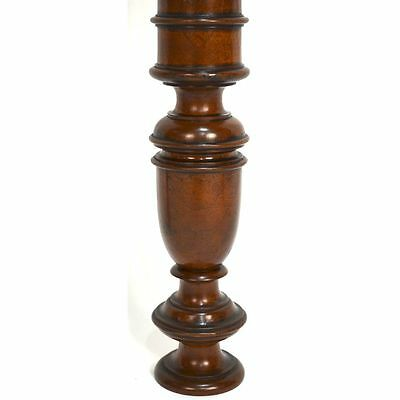 Antique Set of Three French Carved Walnut Architectural Salvaged Pillars 11