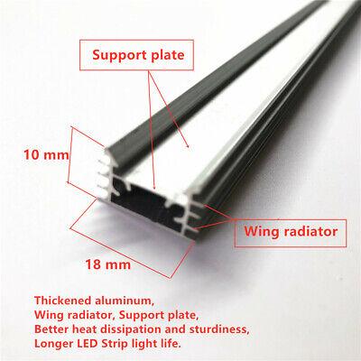 Dual Row 5630 1m 0.5m Led Strip Hard Bar Aluminum Case Milk Clear Cover Cap 12 V 3