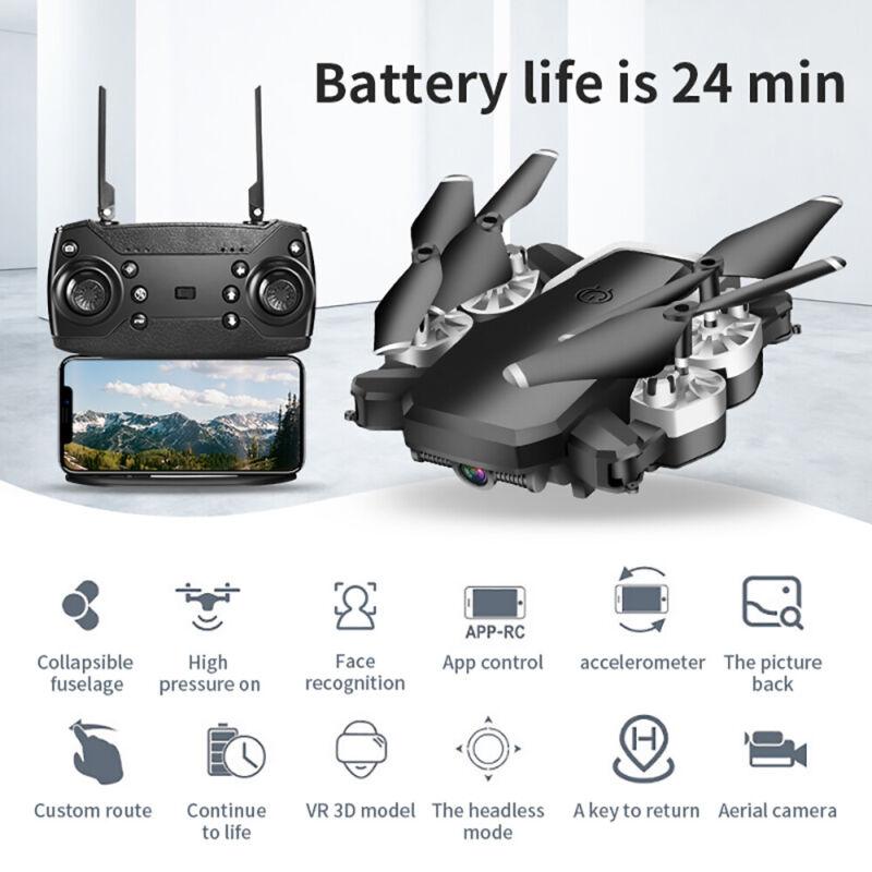 DRONE QUADRICOTTERO FPV CAMERA REAL TIME WiFi 1080P PORTATILE RICARICABILE 6
