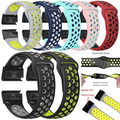 For Garmin Fenix 3 5 5X 5S Nylon/Silicone Strap Replacement Watch Band Bracelet 2